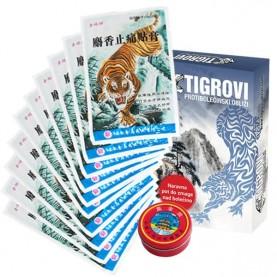 CEROTTI ANTIDOLORIFICI AL BALSAMO DI TIGRE – 10 confezioni da 4 cerotti + REGALO: Balsamo di tigre 19g
